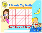 Color Brushing Chart - Pediatric Dentist in Austin, Tx
