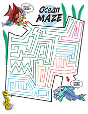 Ocean Maze activity sheet - Pediatric Dentist in Austin, Tx